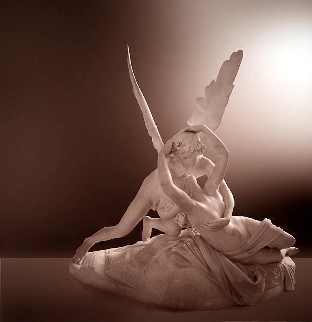 Eros e Pisque por Antonio Canova