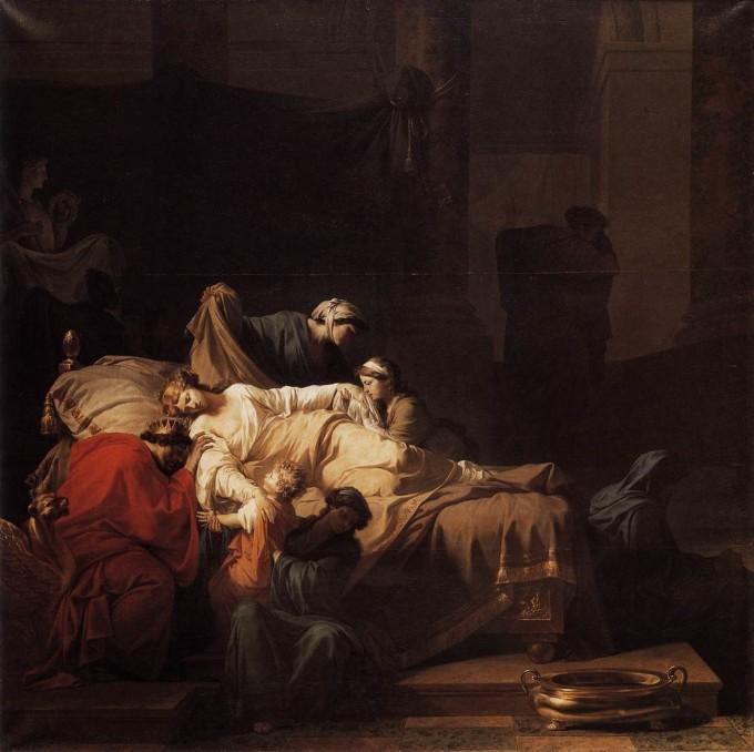 A morte de Alceste - Jean François Pierre Peyron.