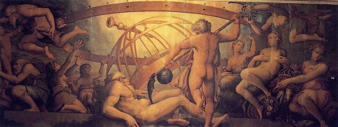 Apolo e as Ninfas, de François Girardon (1666-73), na Gruta de Apolo, em Versalhes