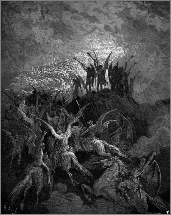 O Supremo conselho infernal ( Gustave Doré – Ilustração para o Paraíso Perdido).