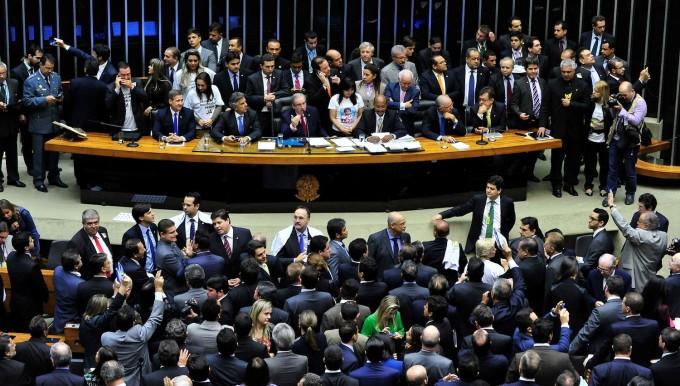 O parlamento do Brasil é o foco do impeachment (FOTO: LUIS MACEDO/CÂMARA)