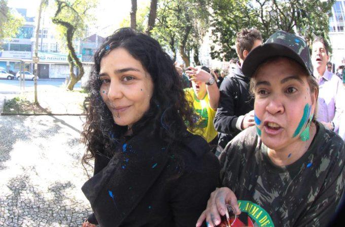 A estúpida agressão sofrida por Letícia Sabatella (Wagner Rosário/VEJA.com)