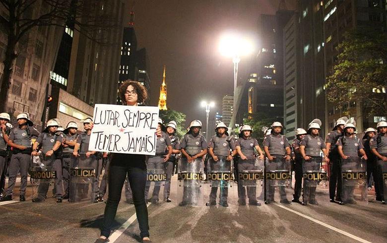A forte repressão da PM de SP é o sinal de que não haverá liberdade alguma (PEDRO CARAMURU/JORNALISTAS LIVRES)
